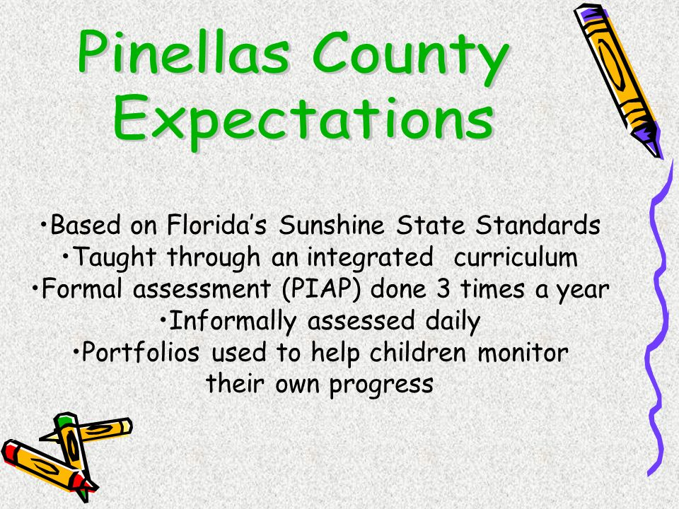 Pinellas County Expectations