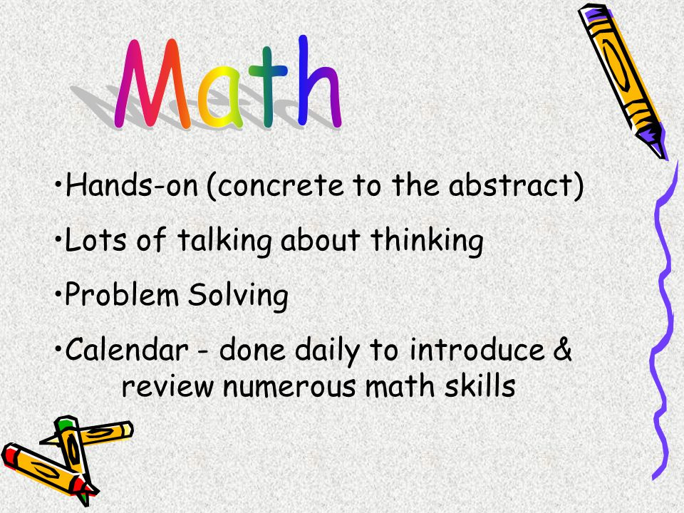 Math Hands-on (concrete to the abstract)