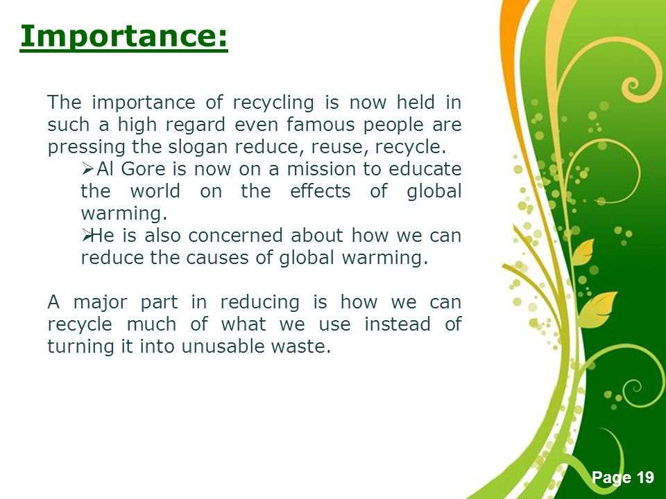 benefits of recycling cause and effect essay The advantages of recycling  here we go into more detail about the benefits recycling has not only for  recycling can clearly have a positive effect on.