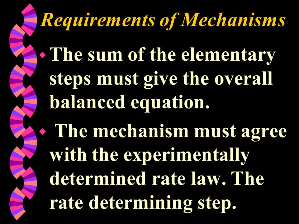 Requirements of Mechanisms