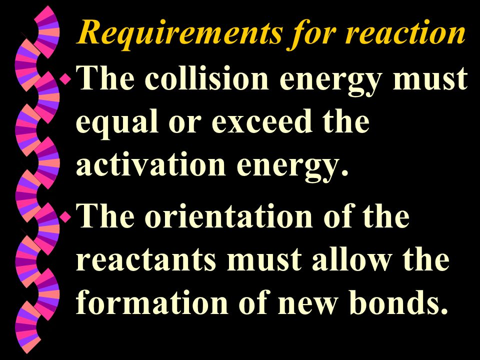 Requirements for reaction
