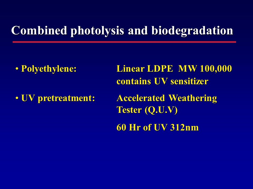 Combined photolysis and biodegradation