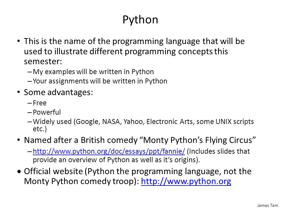 python programming language example pdf