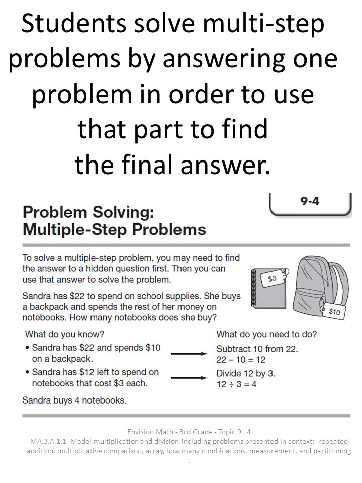 Envision Math - 3rd Grade - Topic 9– 4