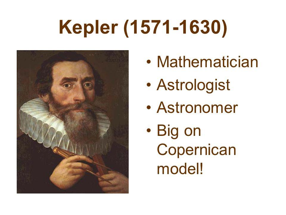 Kepler (1571-1630) Mathematician Astrologist Astronomer