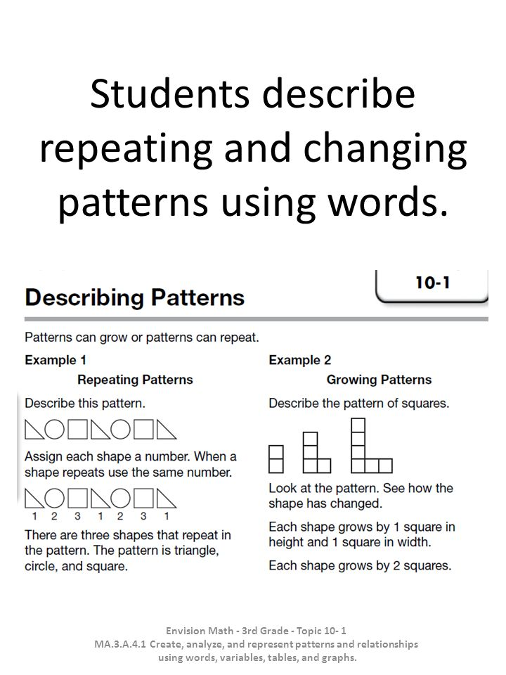 Students Describe Repeating And Changing Patterns Using Words Ppt