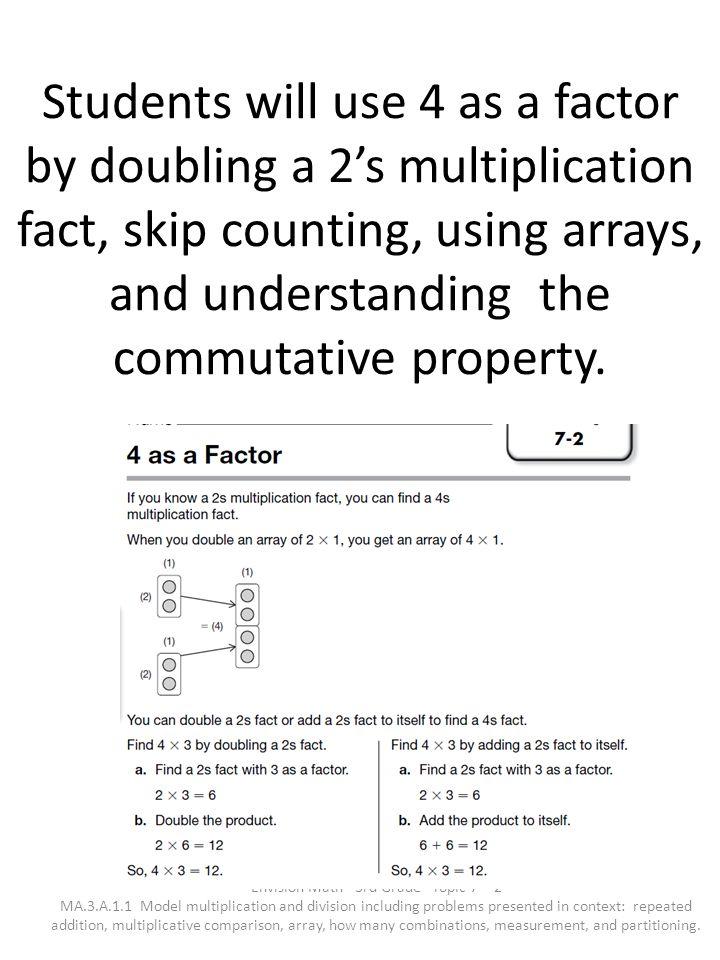 Envision Math - 3rd Grade - Topic 7 - 2
