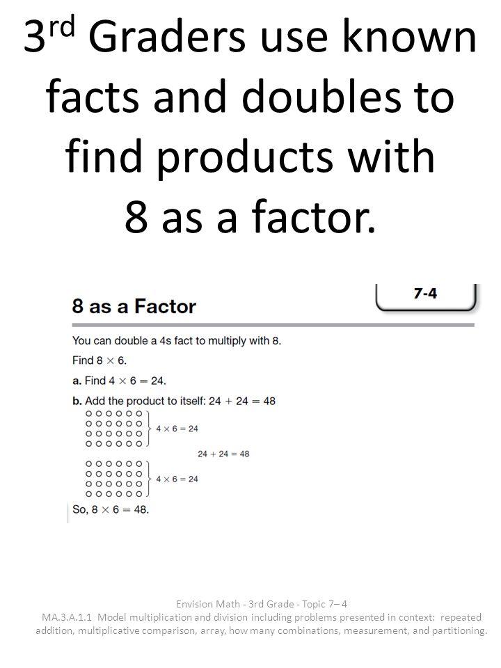 Envision Math - 3rd Grade - Topic 7– 4