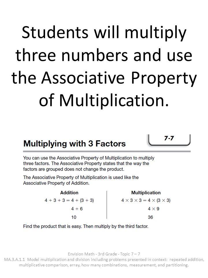 Envision Math - 3rd Grade - Topic 7 – 7