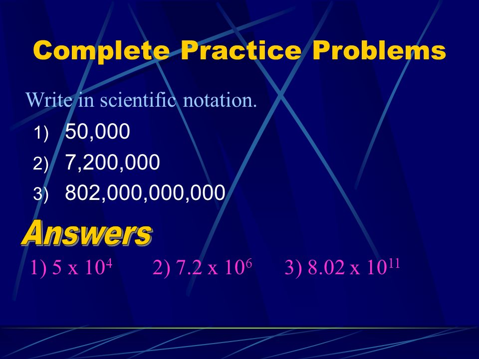 Complete Practice Problems