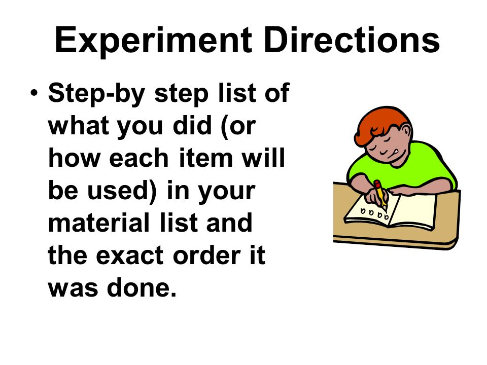Experiment Directions