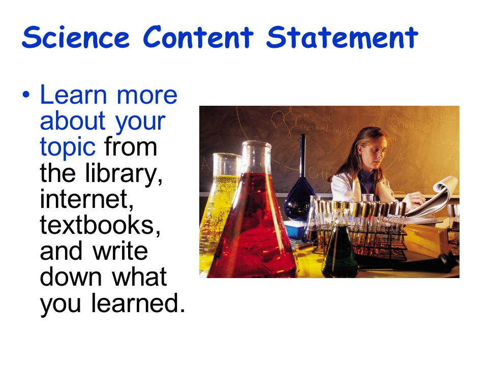 Science Content Statement