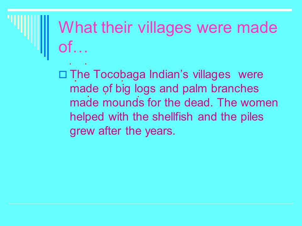 What their villages were made of…
