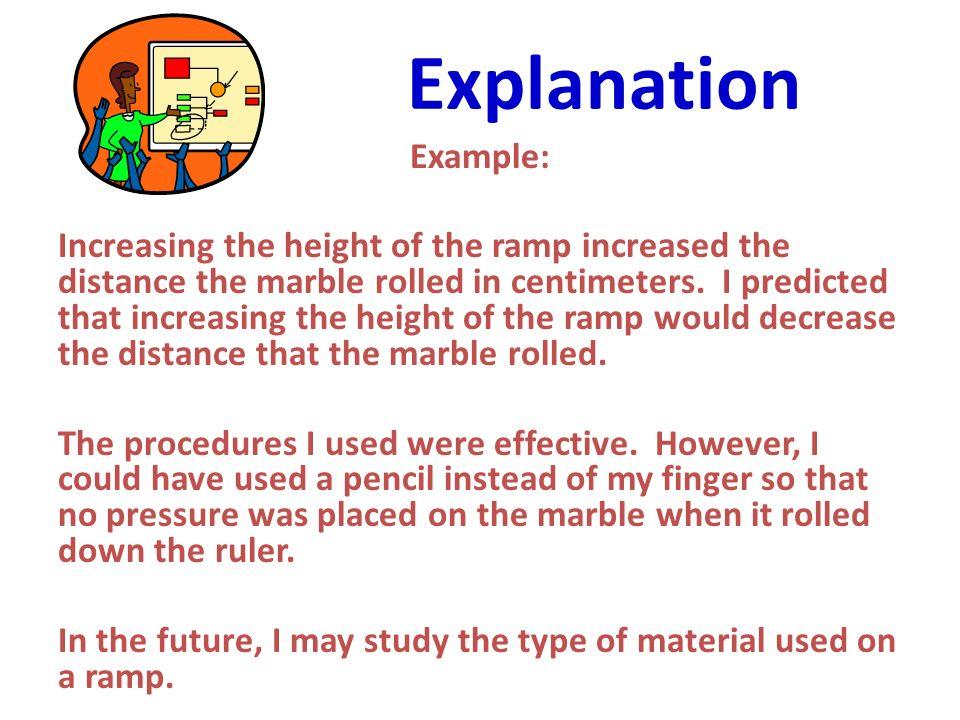 Explanation Example: