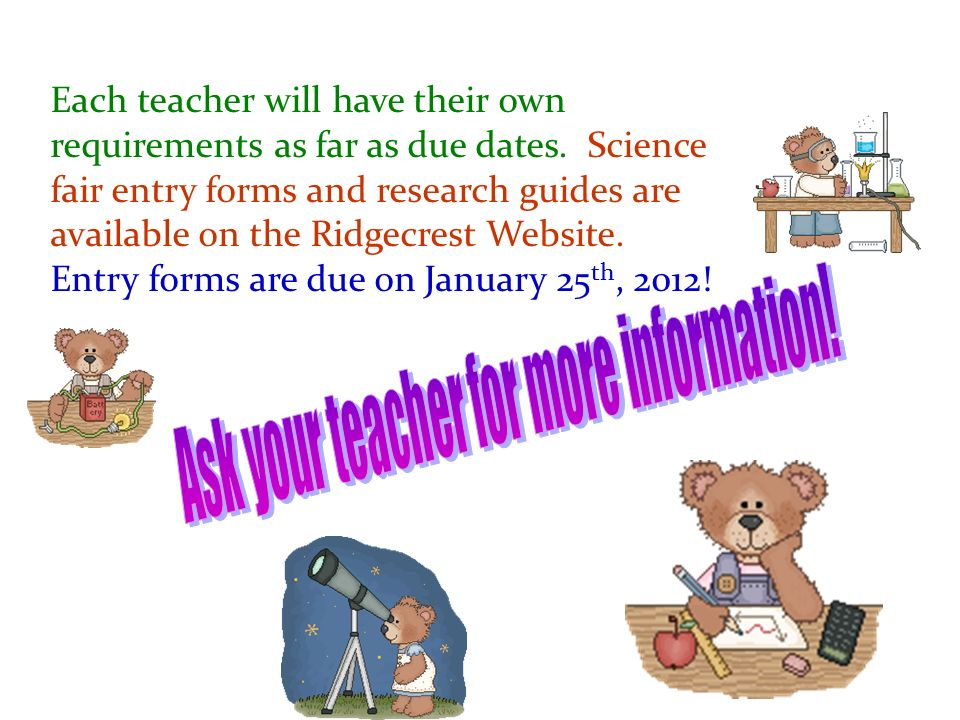 Ask your teacher for more information!