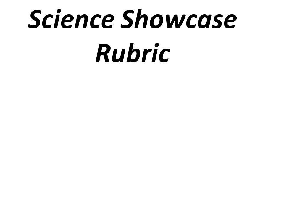 Science Showcase Rubric