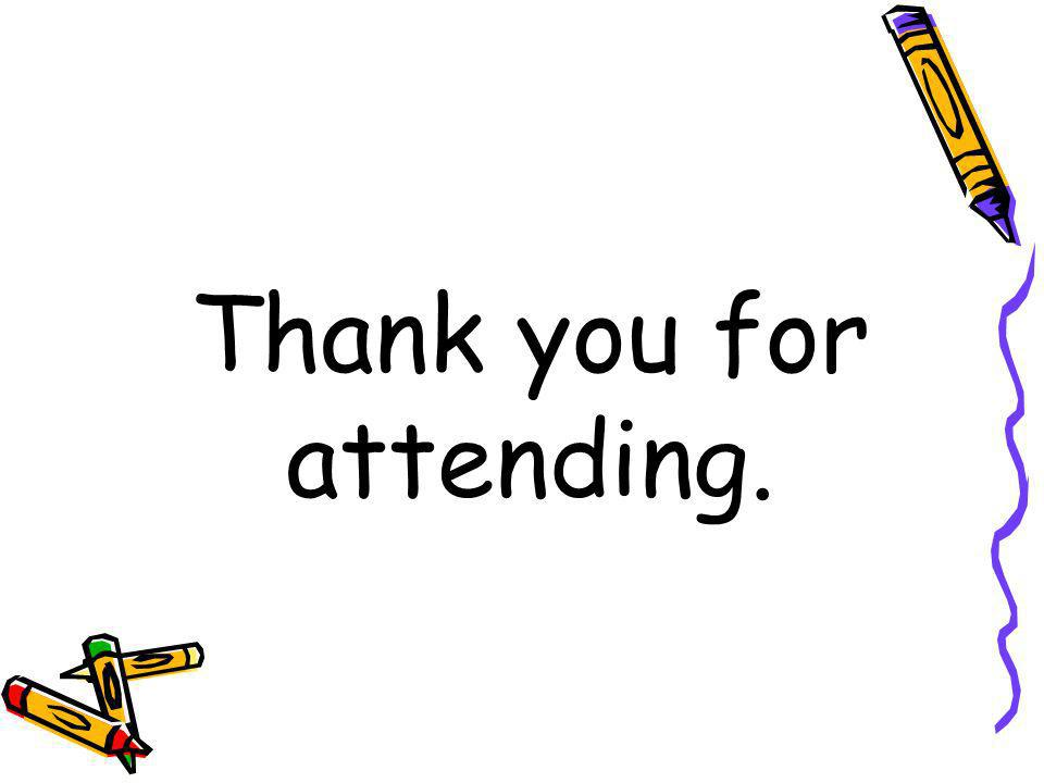 Thank you for attending.