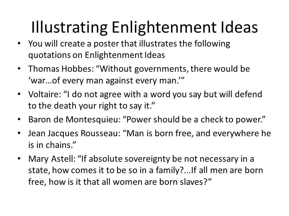 Illustrating Enlightenment Ideas