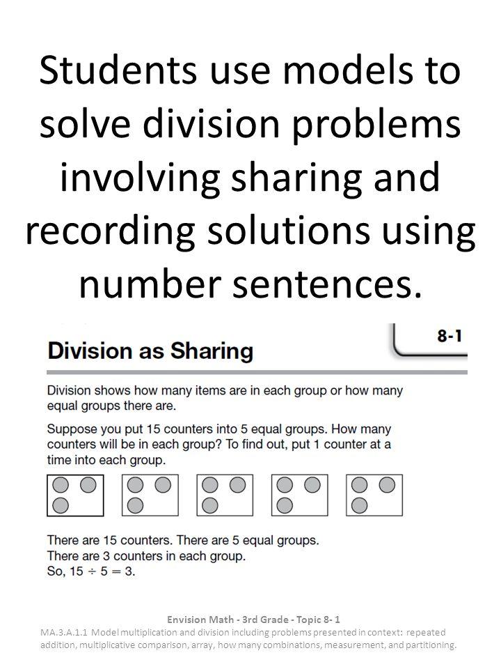 Envision Math 3rd Grade Topic 8 1