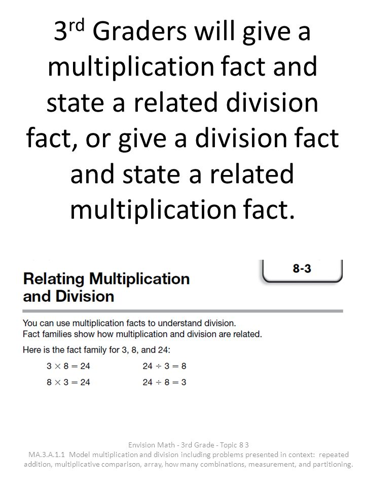 Envision Math - 3rd Grade - Topic 8 3