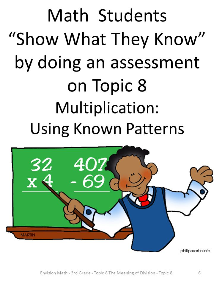 Envision Math - 3rd Grade - Topic 8 The Meaning of Division - Topic 8