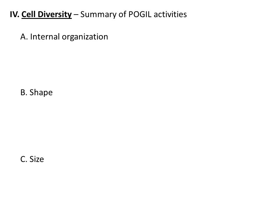 cell size pogil - Siteze