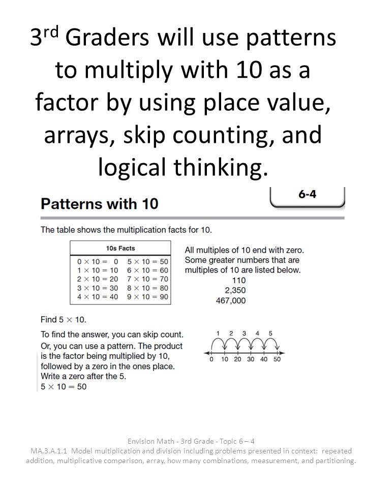 Envision Math - 3rd Grade - Topic 6 – 4