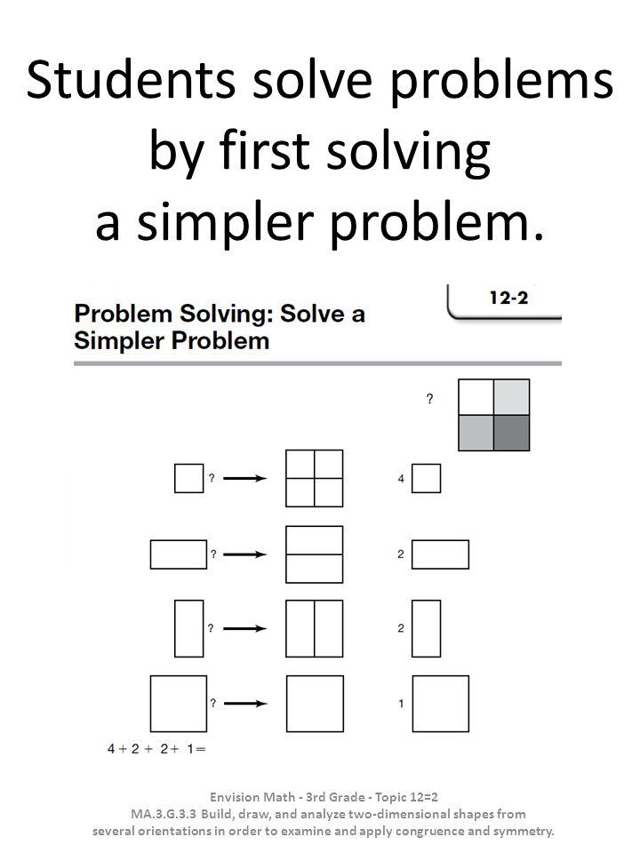 Students solve problems by first solving a simpler problem.