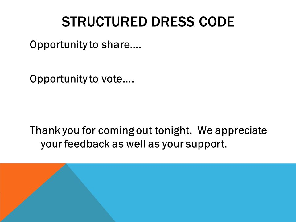 Structured Dress Code