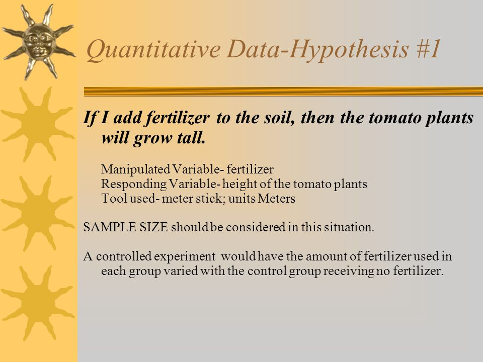 Quantitative Data-Hypothesis #1