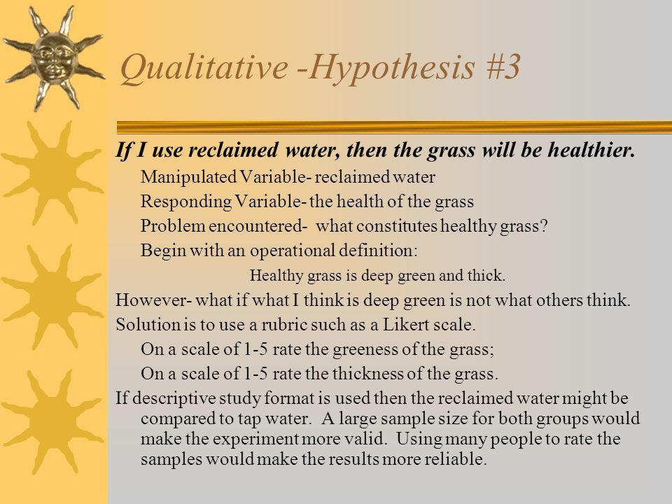 Qualitative -Hypothesis #3