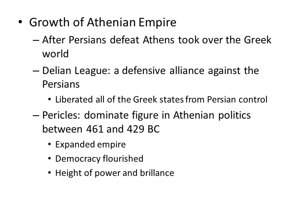 Growth of Athenian Empire