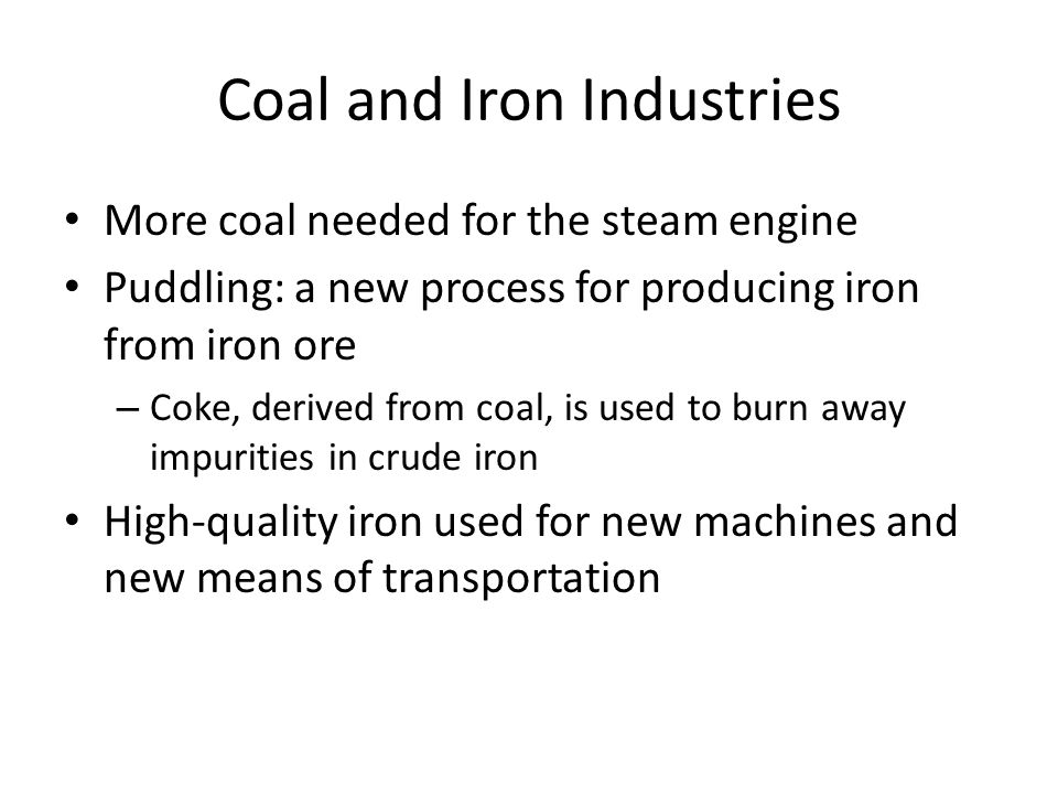 Coal and Iron Industries