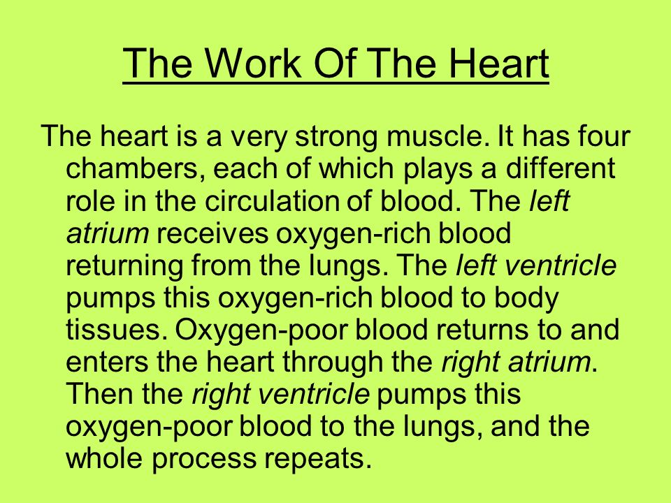 The Work Of The Heart