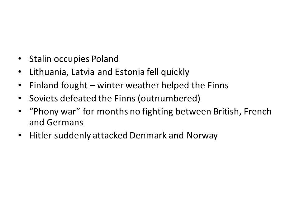 Stalin occupies Poland