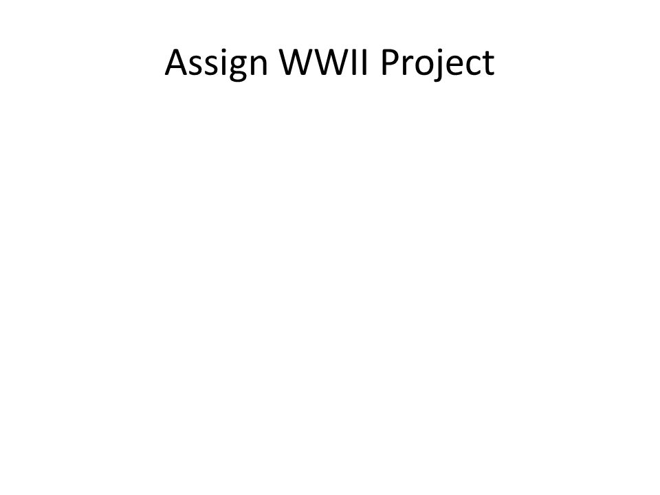 Assign WWII Project