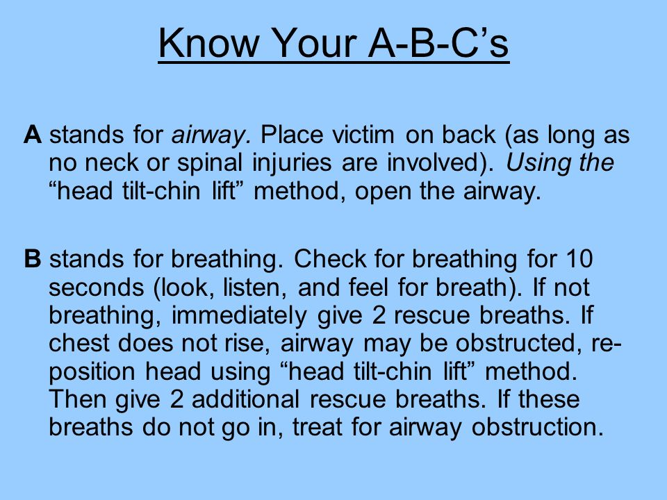 Know Your A-B-C's