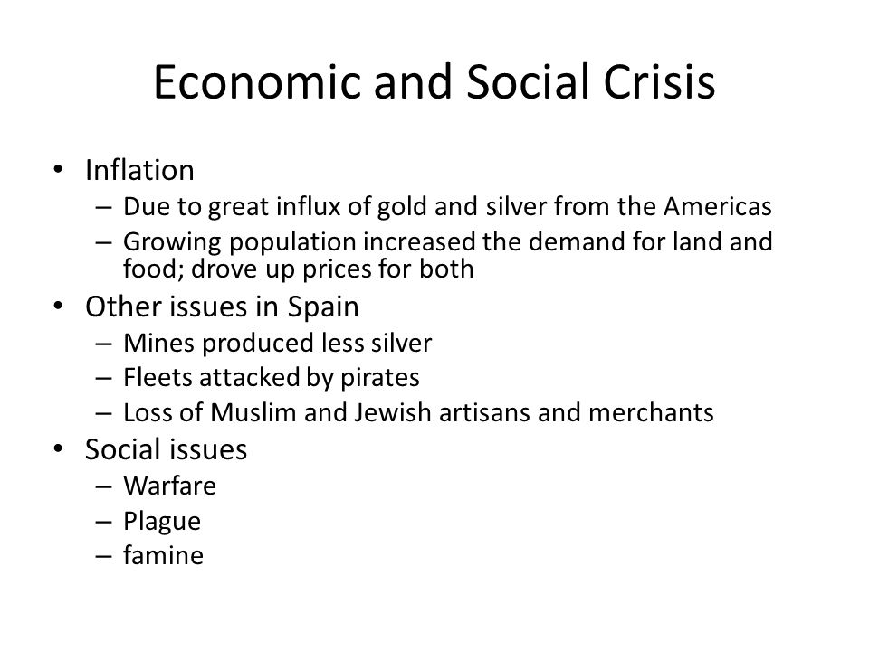 Economic and Social Crisis