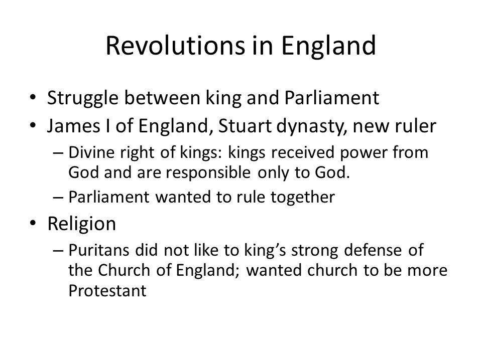 Revolutions in England