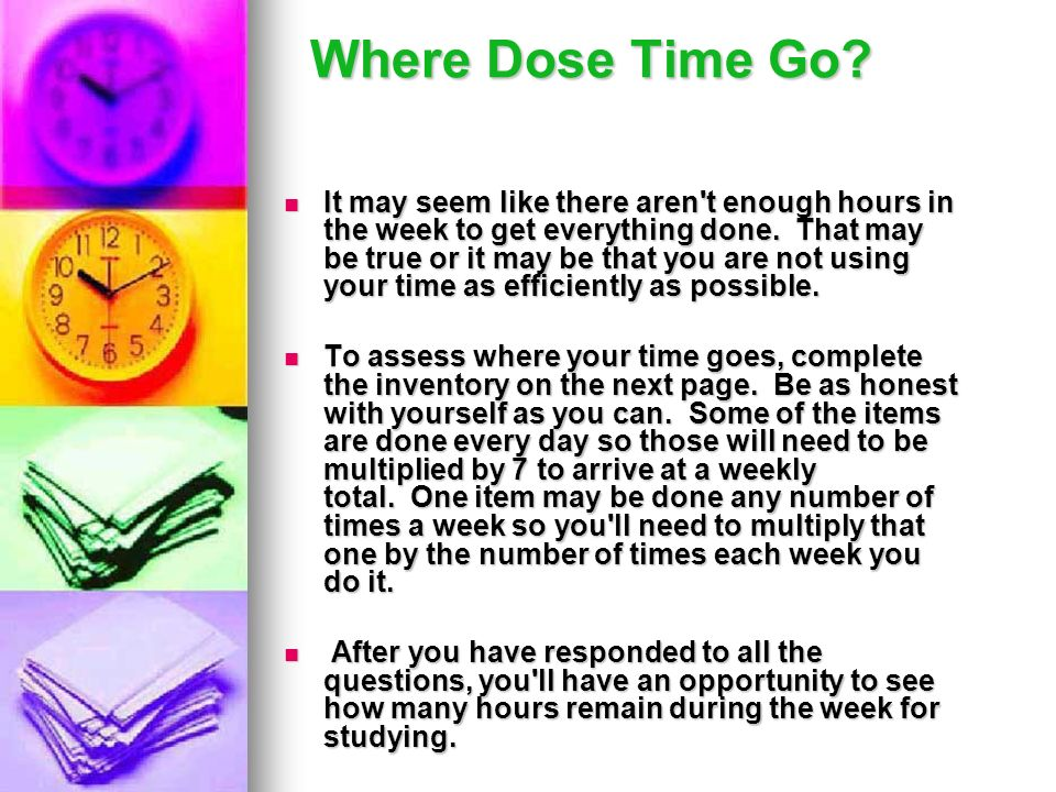 Where Dose Time Go