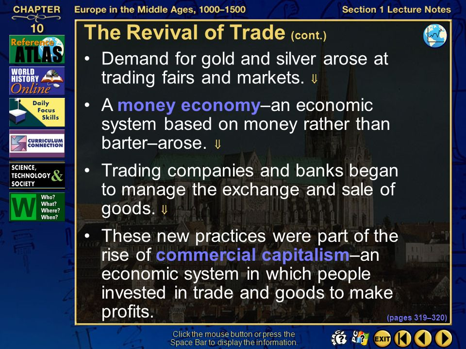 The Revival of Trade (cont.)