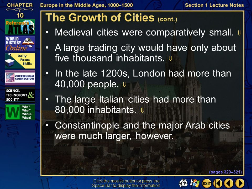 The Growth of Cities (cont.)