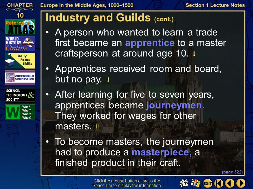 Industry and Guilds (cont.)