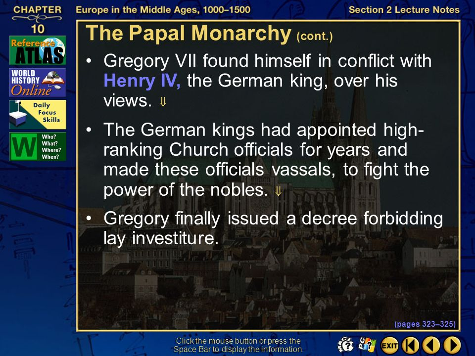 The Papal Monarchy (cont.)