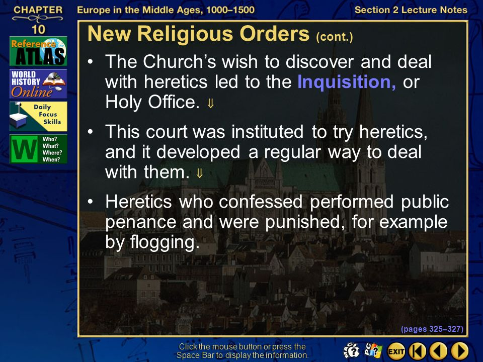 New Religious Orders (cont.)