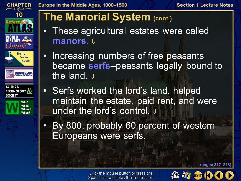 The Manorial System (cont.)