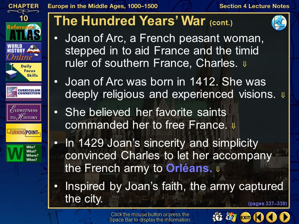 The Hundred Years' War (cont.)
