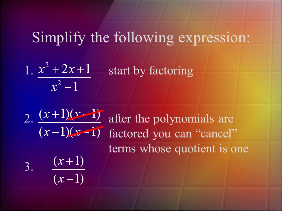 Simplify the following expression: