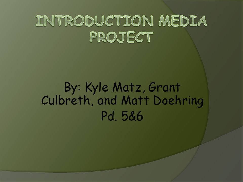 Introduction Media Project