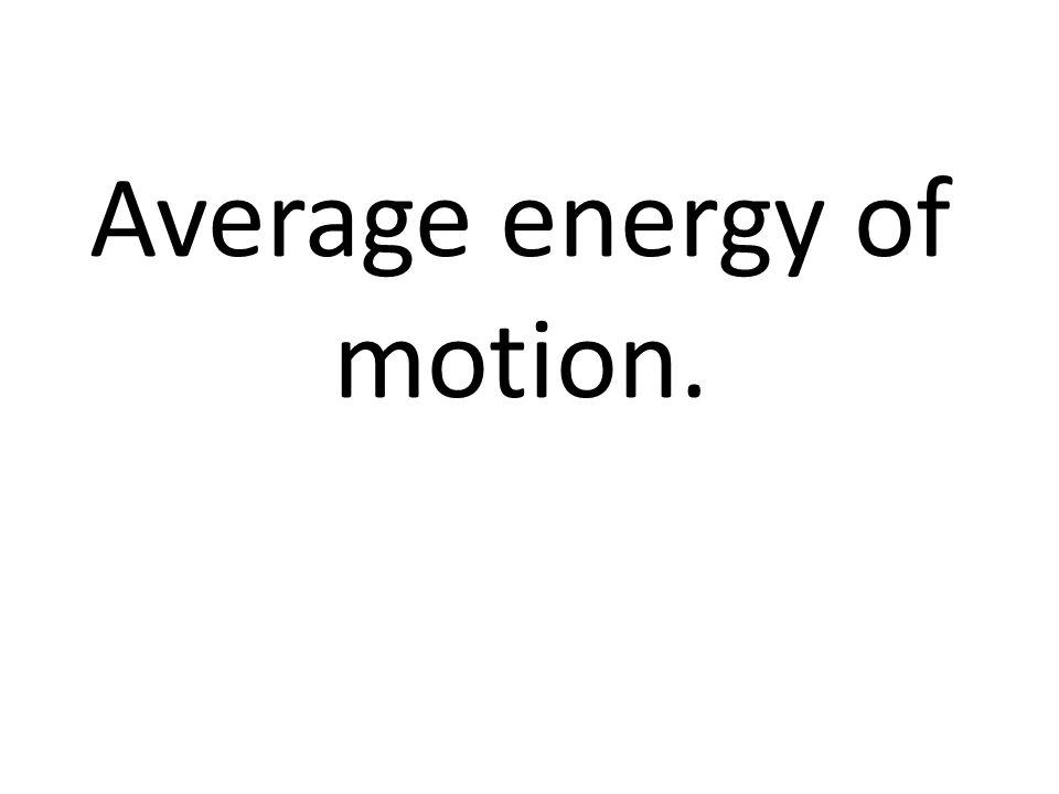 Average energy of motion.